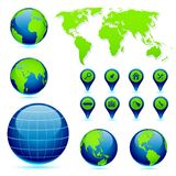 Earth with World Map Royalty Free Stock Images