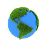 World map made from grass Stock Images