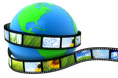 Earth wrapped in film. With images Stock Photo