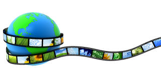 Earth wrapped in film Royalty Free Stock Photography