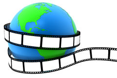 Earth wrapped in film. Earth wrapped in blank film Royalty Free Stock Photo