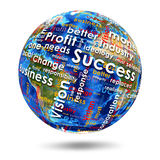 On the Earth written business words Royalty Free Stock Photo