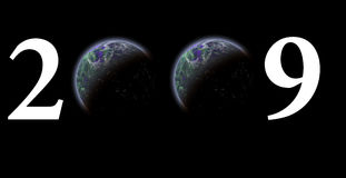 The earth year 2009 Royalty Free Stock Image