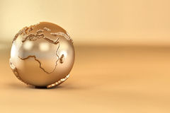 earth on yellow background Royalty Free Stock Images
