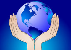 Earth in the your hands Royalty Free Stock Image