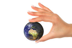 Earth is in your hands Royalty Free Stock Photography