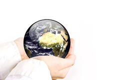The earth is in your hands Stock Images