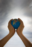 Earth is in your hands Stock Image
