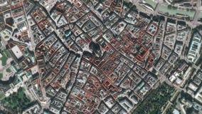 Earth Zoom on Vienna City - Austria