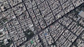 Earth Zoom In Zoom Out Tehran Iran stock footage