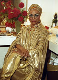 Eartha Kitt. American actress, singer, cabaret star, and civil/human rights activist Eartha Kitt strikes a pose in stage make-up and costume at the Kennedy Stock Photo