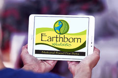 Earthborn Holistic pet food logo. Logo of Earthborn Holistic pet food company on samsung tablet Royalty Free Stock Photo