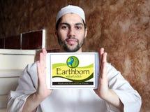 Earthborn Holistic pet food logo. Logo of Earthborn Holistic pet food company on samsung tablet holded by arab muslim man Royalty Free Stock Photos