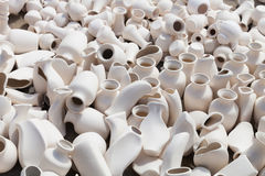 Earthen clay vases Stock Photo
