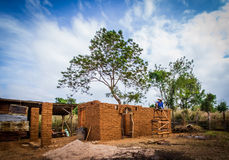 Earthen house building Royalty Free Stock Photo