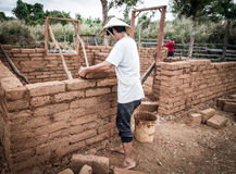 Earthen house building Royalty Free Stock Photos