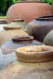 Earthen jar. For put water and food Royalty Free Stock Photo
