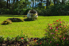 Earthen jar tropical Stock Photography