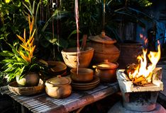 Earthen kitchen Royalty Free Stock Photography