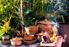 Earthen kitchen Stock Image