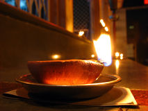 Earthen Lamp Stock Image