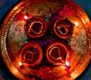 Earthen lamps Royalty Free Stock Photo