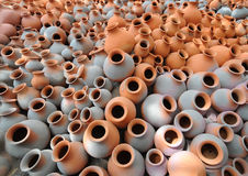 Earthen pots Stock Images