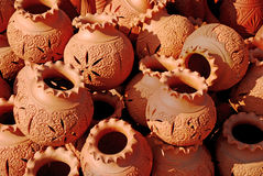 Earthen Pots Royalty Free Stock Photography
