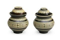 Earthen tea jugs Stock Photography