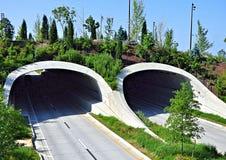 Earthen tunele przy zgromadzenia miejscem w Tulsa Oklahoma fotografia stock