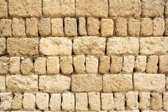 Earthen wall of ancient Chinese house , China Stock Images