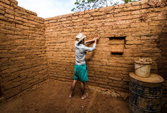 Earthen work Stock Image