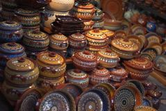 Earthenware. Hand-made pottery from Bulgaria Royalty Free Stock Photography