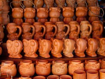 Earthenware. Pottery for which can be used as a container of water Royalty Free Stock Image