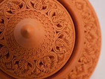 Earthenware. Sculpture and carving, pottery, handmade in Thailand Royalty Free Stock Photography