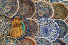 Earthenware. Handmade by today's visitors Tunisia are very nice souvenirs to gift friends with tourist trips. For sale in the souvenir shops, are not expensive royalty free stock photography