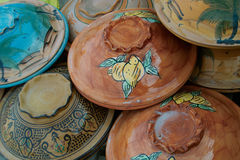 Earthenware. Handmade by today's visitors Tunisia are very nice souvenirs to gift friends with tourist trips. For sale in the souvenir shops, are not expensive stock image