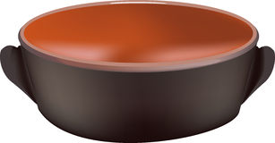 Earthenware casserole. Terracotta pot for cooking food Stock Photography
