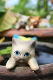 Earthenware cat Stock Image