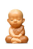 Earthenware of child monk Royalty Free Stock Photos