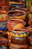 Earthenware Crockery on the Pottery Market Stock Images