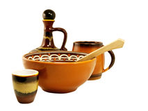Earthenware crockery Stock Images
