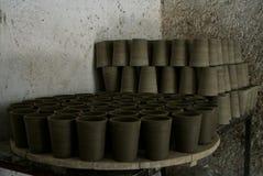 Precarious Pottery royalty free stock image