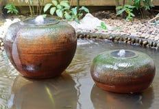 Earthenware fountain jar Stock Image