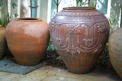 Earthenware handmade old clay pots Stock Image