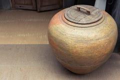 Earthenware jar Royalty Free Stock Image