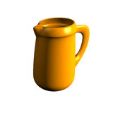 Earthenware jug. On a white background Royalty Free Stock Images