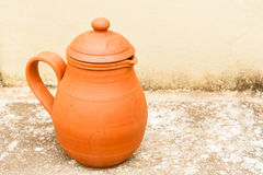 Earthenware Jug. An earthenware water jug used to keep water cool in summer Royalty Free Stock Photos