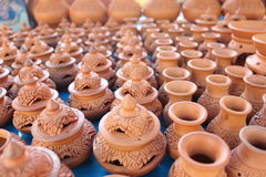 Earthenware in koh kret thailand. Hand made earthenware is a product in Thailand stock photos