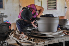 Earthenware Making Stock Photo